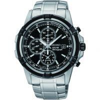 Herren Seiko Alarm Chronograph Solar Powered Watch SSC147P1