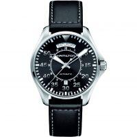 Herren Hamilton Khaki Pilot Tag-Datum Automatik Uhr
