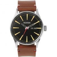 homme Nixon The Sentry Leather Watch A105-019