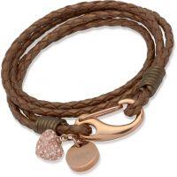 femme Unique & Co Bronze Leather Bracelet Watch B156BR/19CM