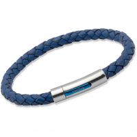 Biżuteria uniwersalne Unique & Co Blue Leather Bracelet B170BLUE/21CM