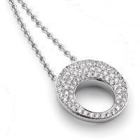 White Gold and Pave-set Diamond Neckpiece 17in/43cm