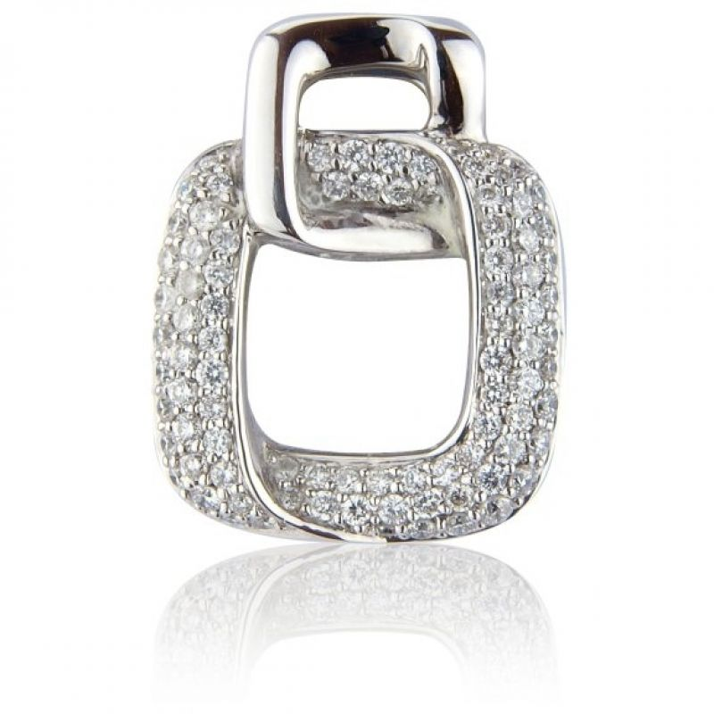 White Gold Pave-set Diamond Pendant