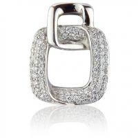 Weißgold Pave-set Diamant Anhänger