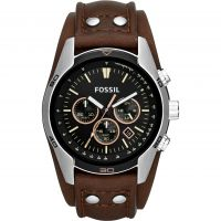 Mens Fossil Coachman Chronograph Cuff Watch