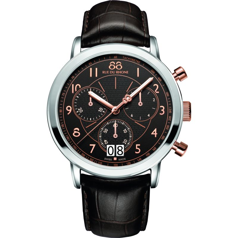 Mens 88 Rue Du Rhone Double 8 Origin 45mm Chronograph Watch 87WA130024