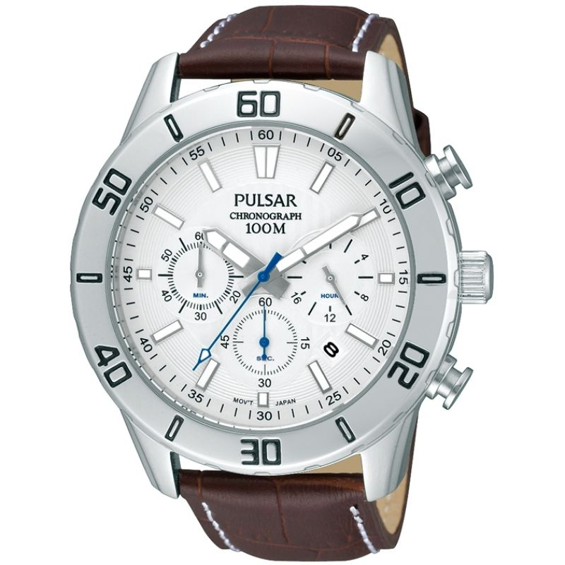 homme Pulsar Chronograph Watch PT3433X1