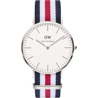 Herren Daniel Wellington Canterbury Silver 40mm Watch DW00100016