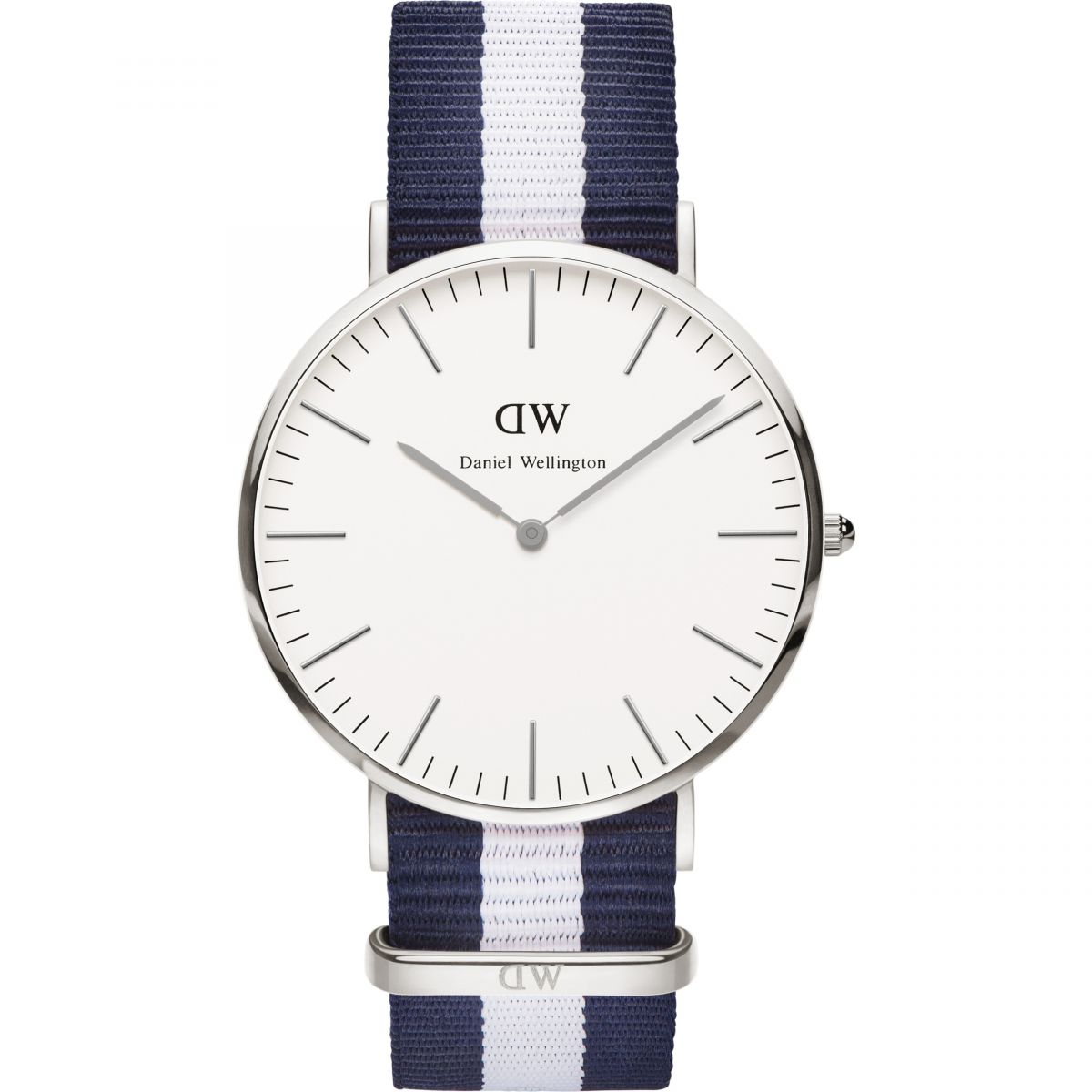 herren daniel wellington glasgow silber 40mm uhr dw00100018. Black Bedroom Furniture Sets. Home Design Ideas