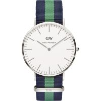 Herren Daniel Wellington Warwick Silver 40mm Watch DW00100019