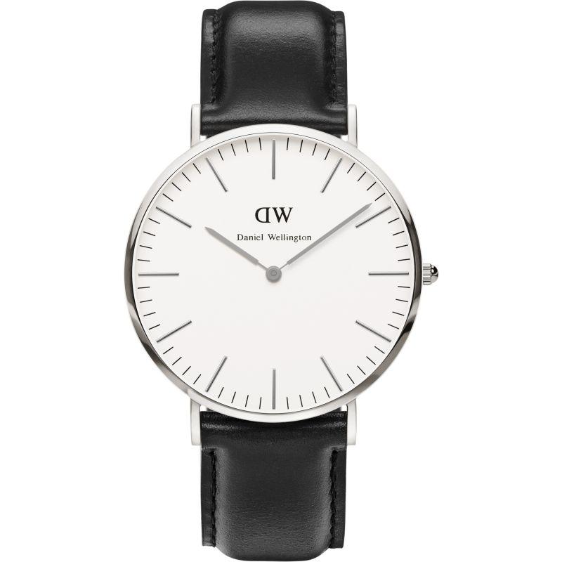 Herren Daniel Wellington Sheffield Silver 40mm Watch DW00100020