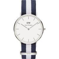 Herren Daniel Wellington Glasgow Silber 36mm Uhr