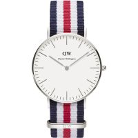 Damen Daniel Wellington Canterbury Silver 36mm Watch DW00100051