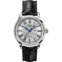 homme Ball Trainmaster Roman Watch NM1058D-L4J-WH