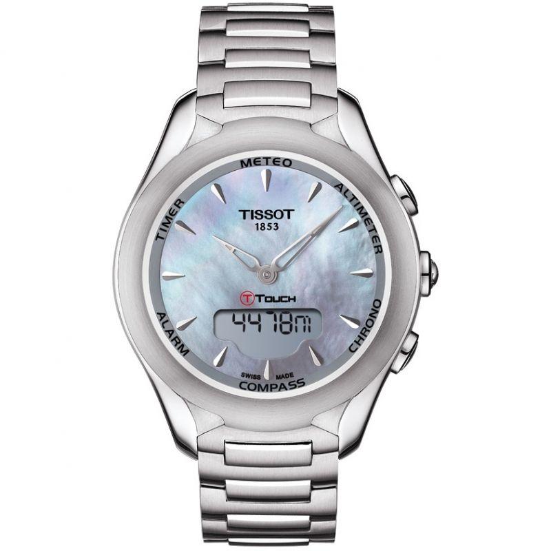 Damen Tissot T-Touch Solar Alarm Chronograph Solar Powered Watch T0752201110100