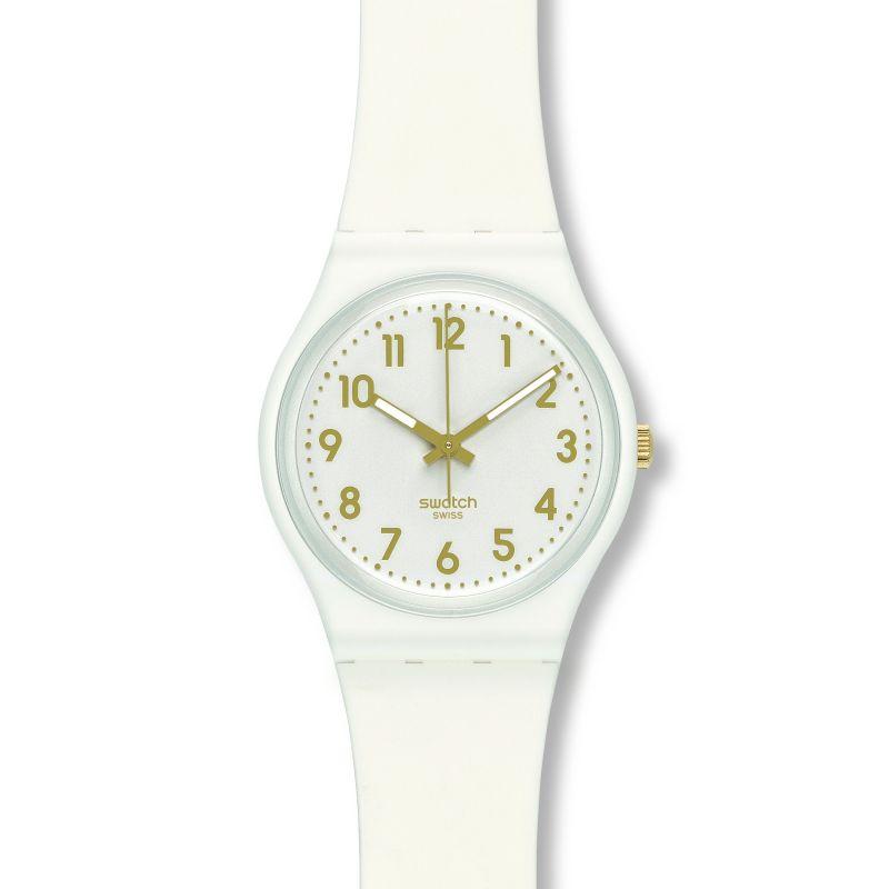 femme Swatch White Bishop Watch GW164