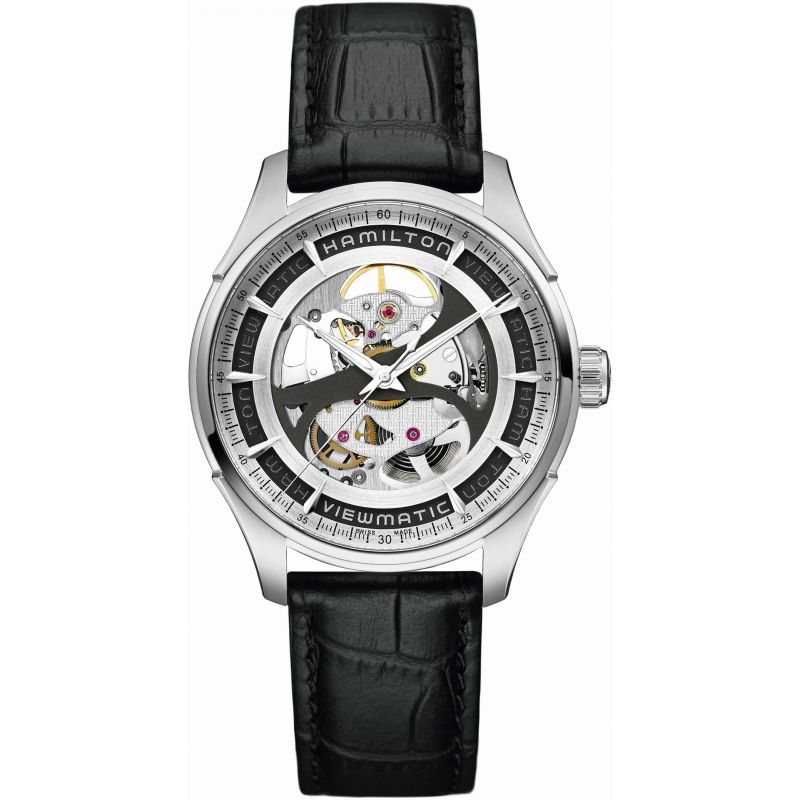 Herren Hamilton Jazzmaster Viewmatic Skeleton Watch H42555751