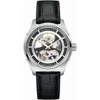 Hamilton Jazzmaster Viewmatic Skeleton Herenhorloge Zwart H42555751