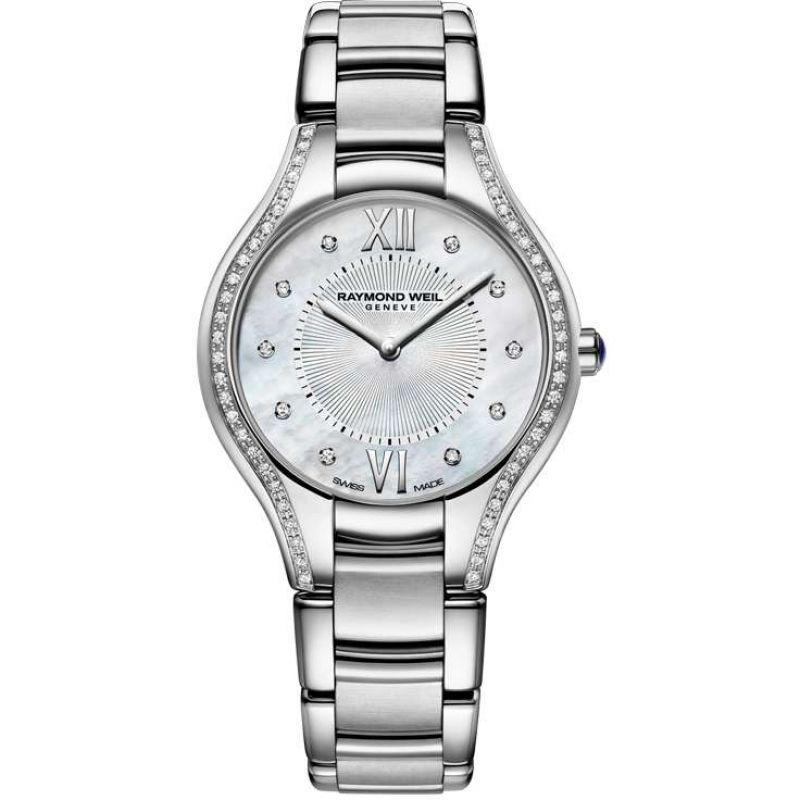 femme Raymond Weil Noemia 32mm Diamond Watch 5132-STS-00985