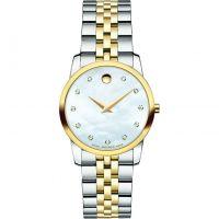 Damen Movado Museum Diamant Uhr