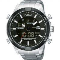 Herren Pulsar Sport Wecker Chronograf Uhr