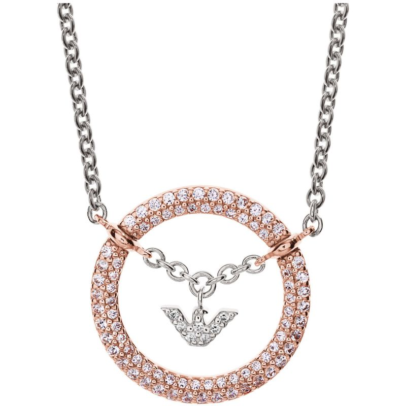Ladies Emporio Armani Sterling Silver Pure Eagle Circles Necklace EG3120221