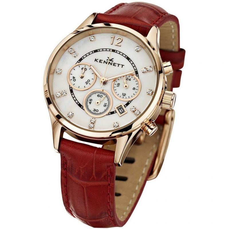 Damen Kennett Lady Savro Chronograph Watch LWSAVWHGOLRD