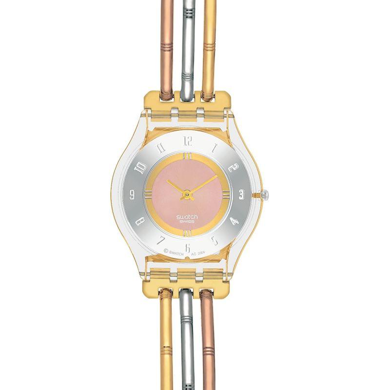 Damen Swatch Skins Tri-Gold Small Watch SFK240B