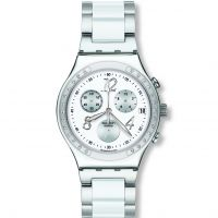 Damen Swatch Dreamwhite Chronograph Watch YCS511GC