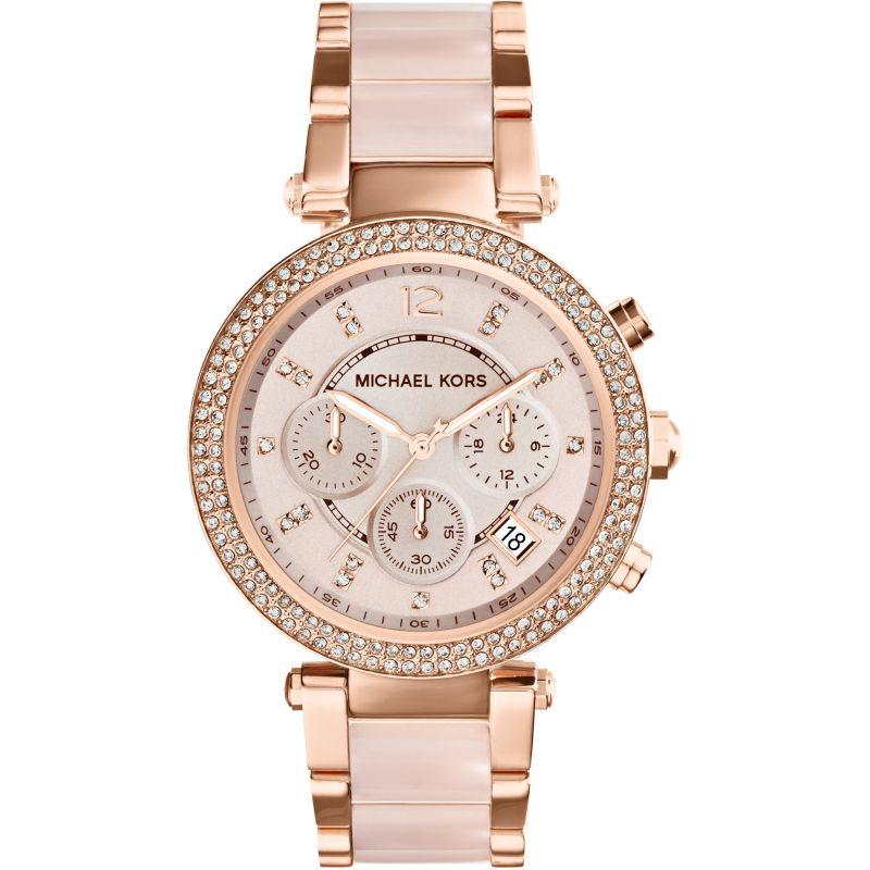 femme Michael Kors Parker Chronograph Watch MK5896