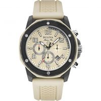 Herren Bulova Marine Stern Duramic Cream Chronograf Uhr