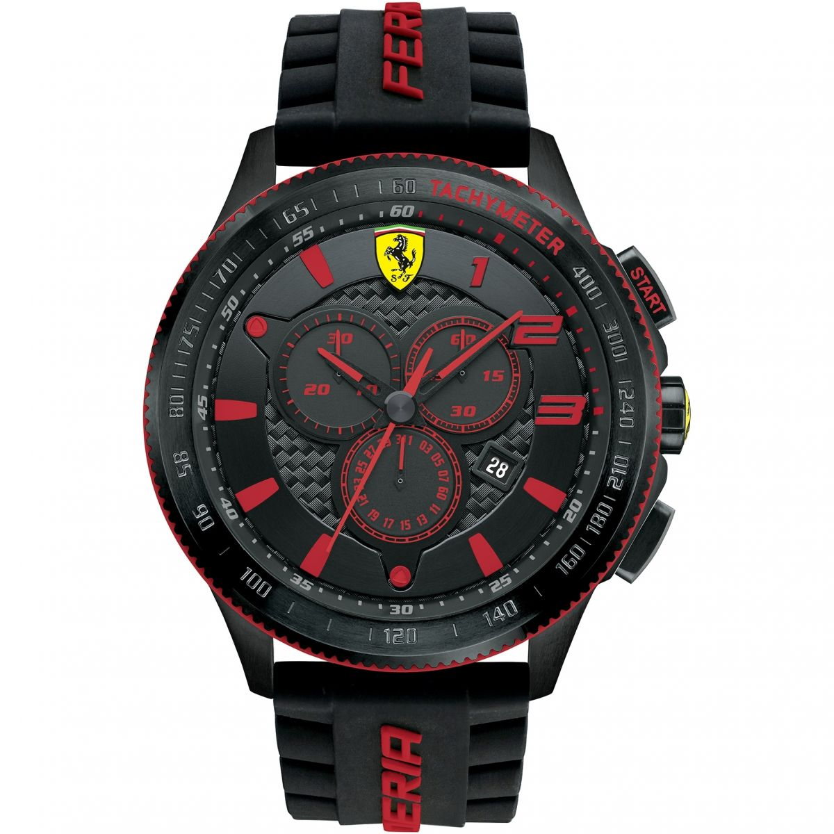 watches jomashop watch dial s carbon black men fiber mens chronograph silicone ferrari scuderia