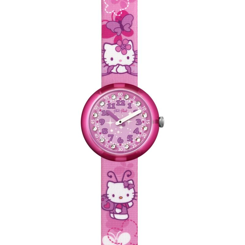 Kinder Flik Flak Hello Kitty Butterfly Watch FLNP005