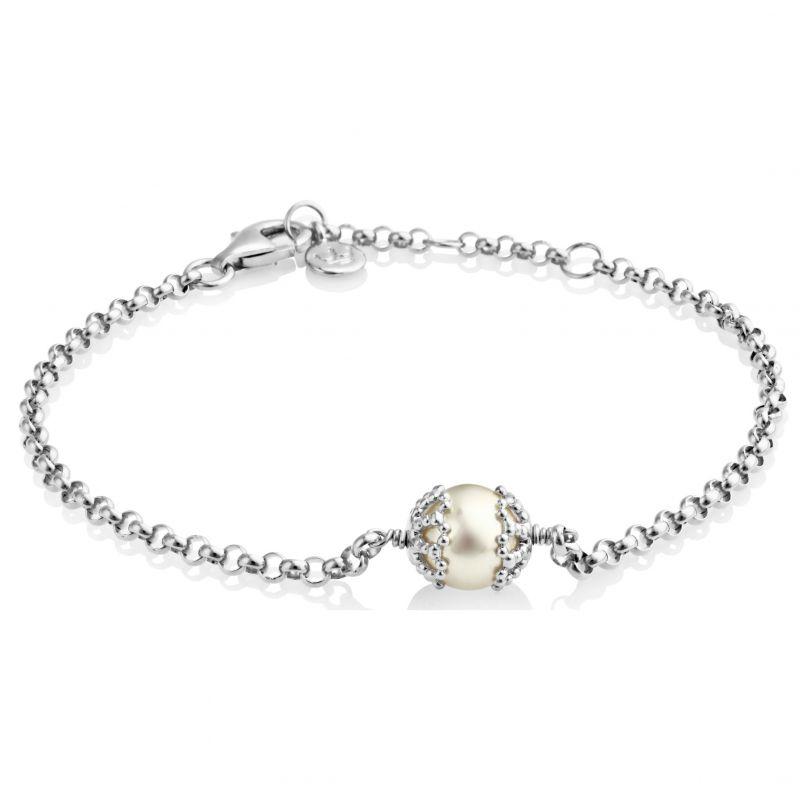 Ladies Jersey Pearl Sterling Silver Emma-Kate Freshwater Pearl Bracelet EKBR-RW