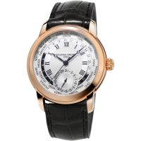 homme Frederique Constant Classic Manufacture Worldtimer Watch FC-718MC4H4