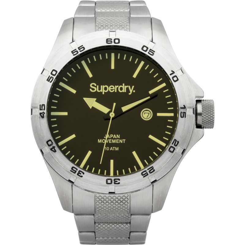 Mens Superdry Adventurer Steel Watch SYG147USM
