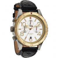 Nixon The 48-20 Chrono Leather Herenchronograaf Zwart A363-1884