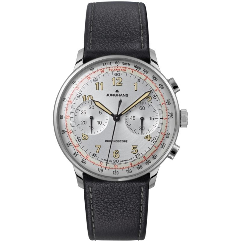 homme Junghans Meister Telemeter Chronograph Watch 027/3380.00