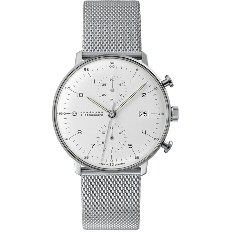 Herren Junghans Max Bill Chronoscope Chronograph Watch 027/4003.44