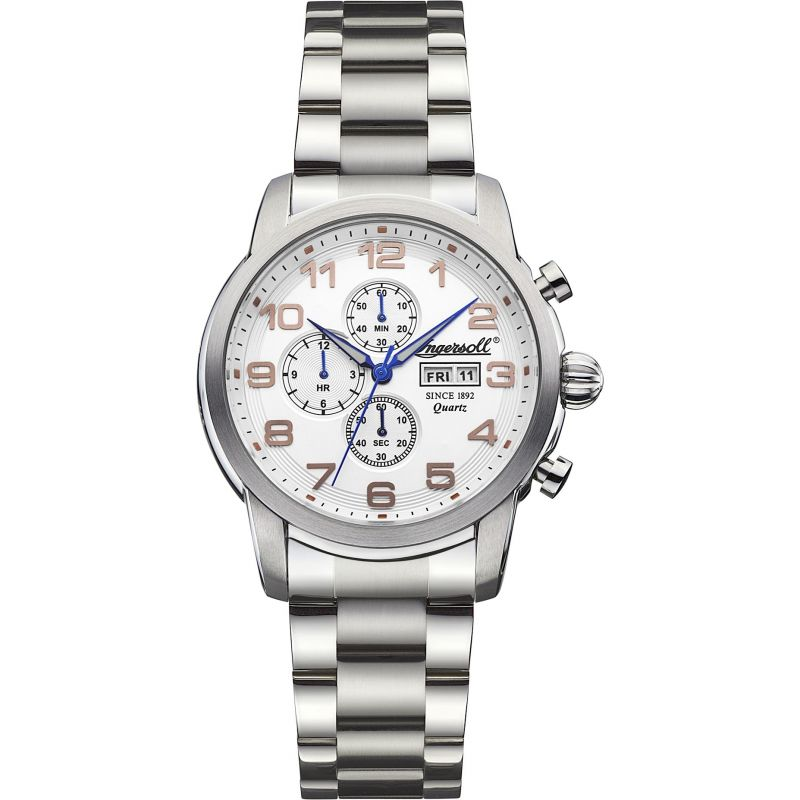 Mens Ingersoll Mount Chronograph Watch INQ018WHSL