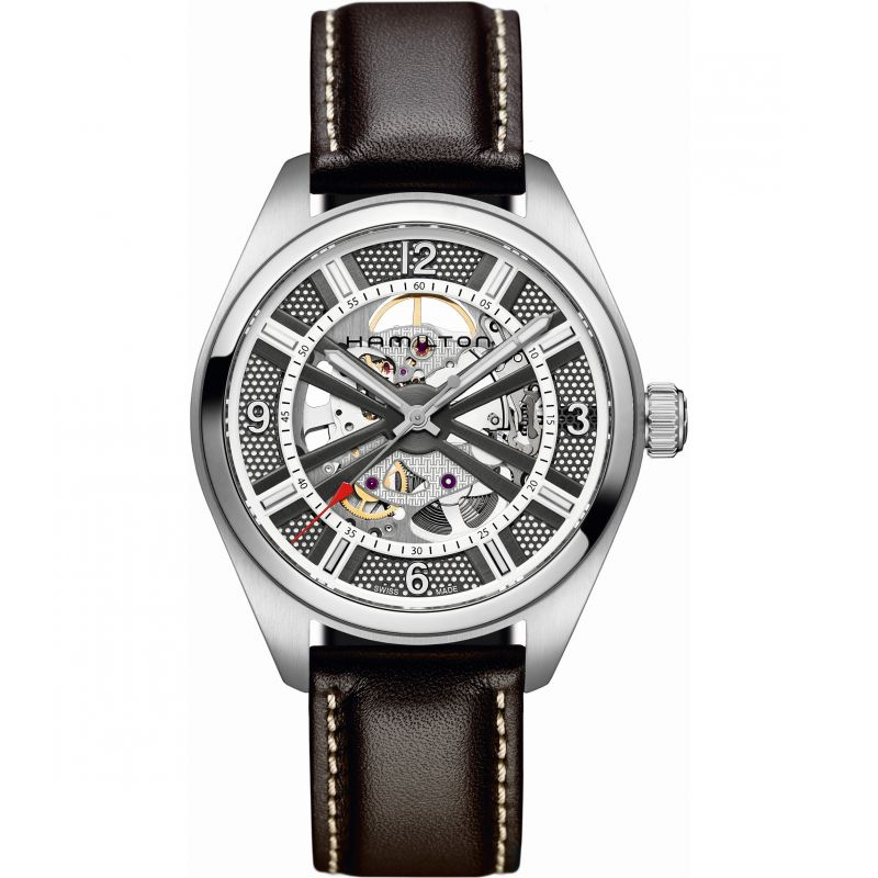 Mens Hamilton Khaki Skeleton Automatic Watch H72515585
