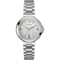 Bulova Diamond Gallery Dameshorloge Zilver 96P149