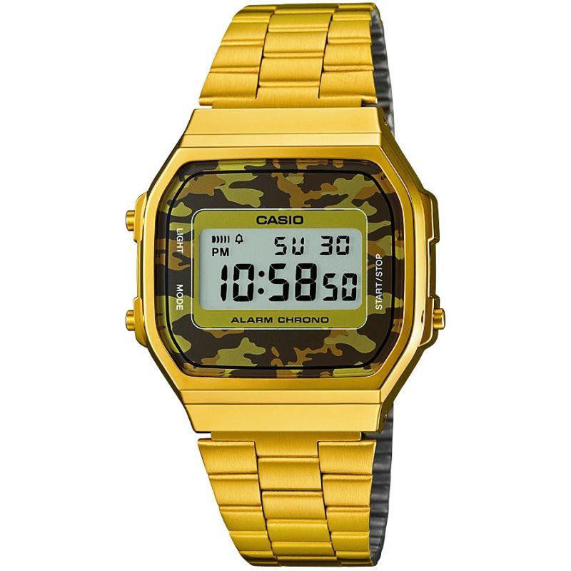 unisexe Casio Classic Alarm Chronograph Watch A168WEGC-5EF