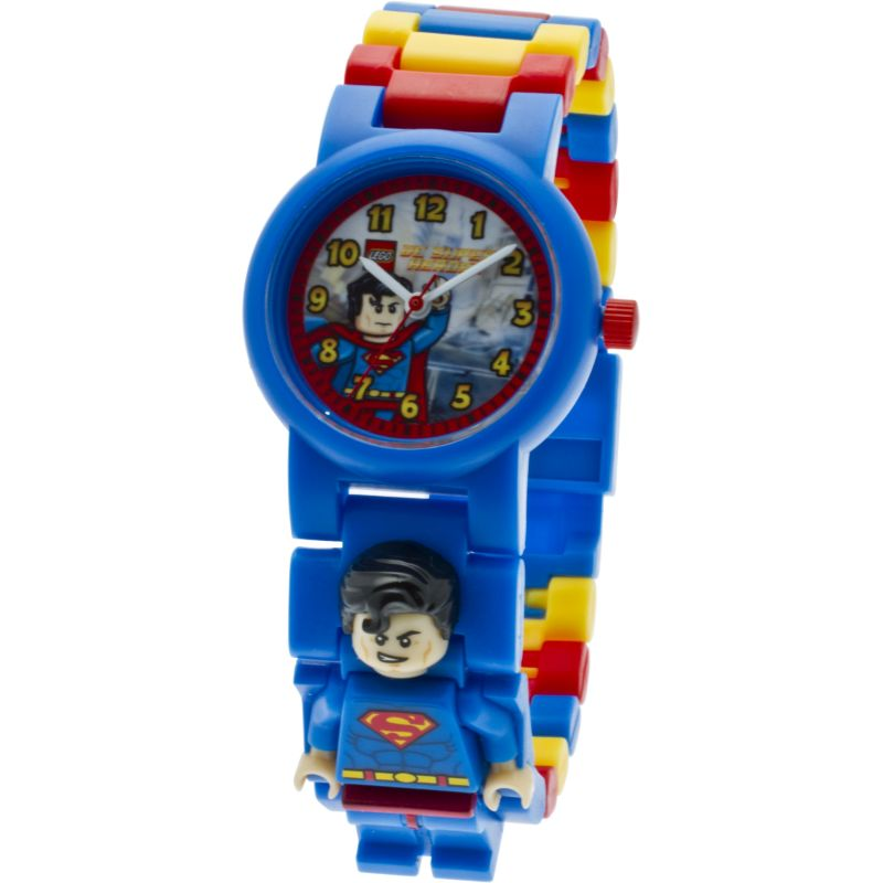 Childrens LEGO DC Super Heroes Superman Minifigure Link Watch 9005619