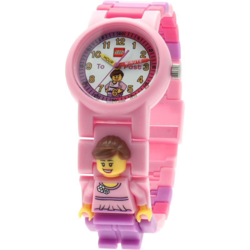 Childrens LEGO Time Teacher Pink Minifigure Link Watch 9005039