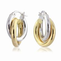 Jewellery White and Yellow Hoop Earrings JEWEL