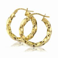 Jewellery Modern Twisted Hoop Earrings JEWEL