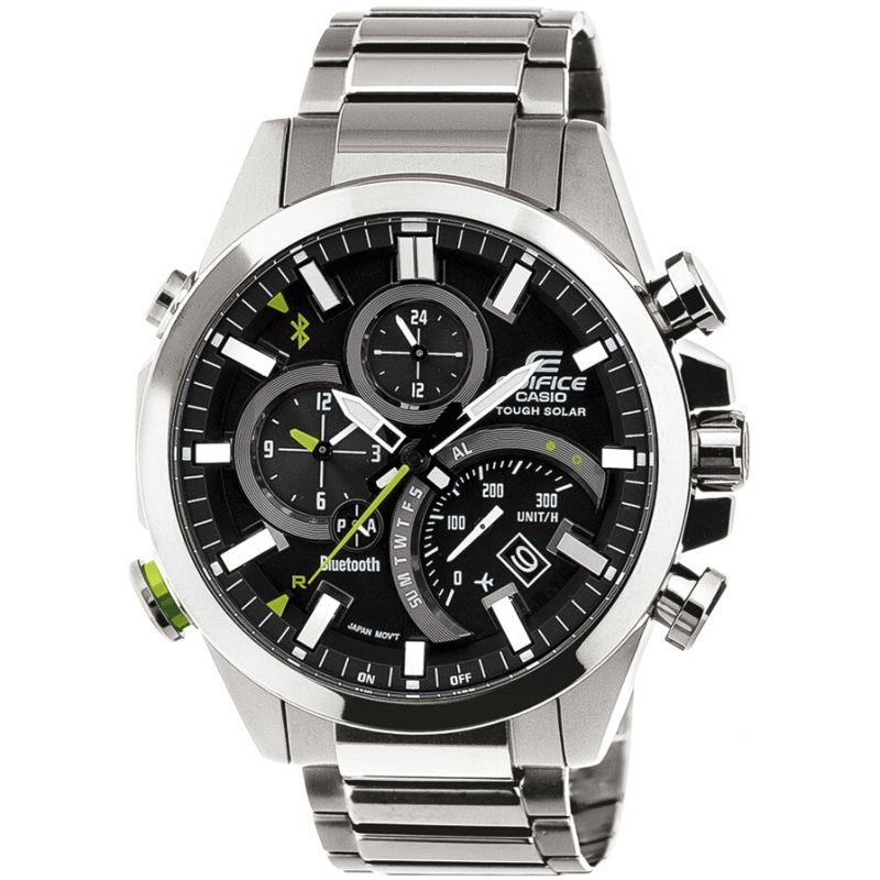 homme Casio Edifice Time Traveller Bluetooth Hybrid Smartwatch Alarm Chronograph Tough Solar Watch EQB-500D-1AER