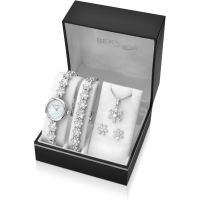 Ladies Sekonda Necklace Earring and Bracelet Gift Set Watch