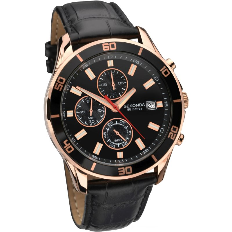 Herren Sekonda Night Fall Chronograph Watch 1051